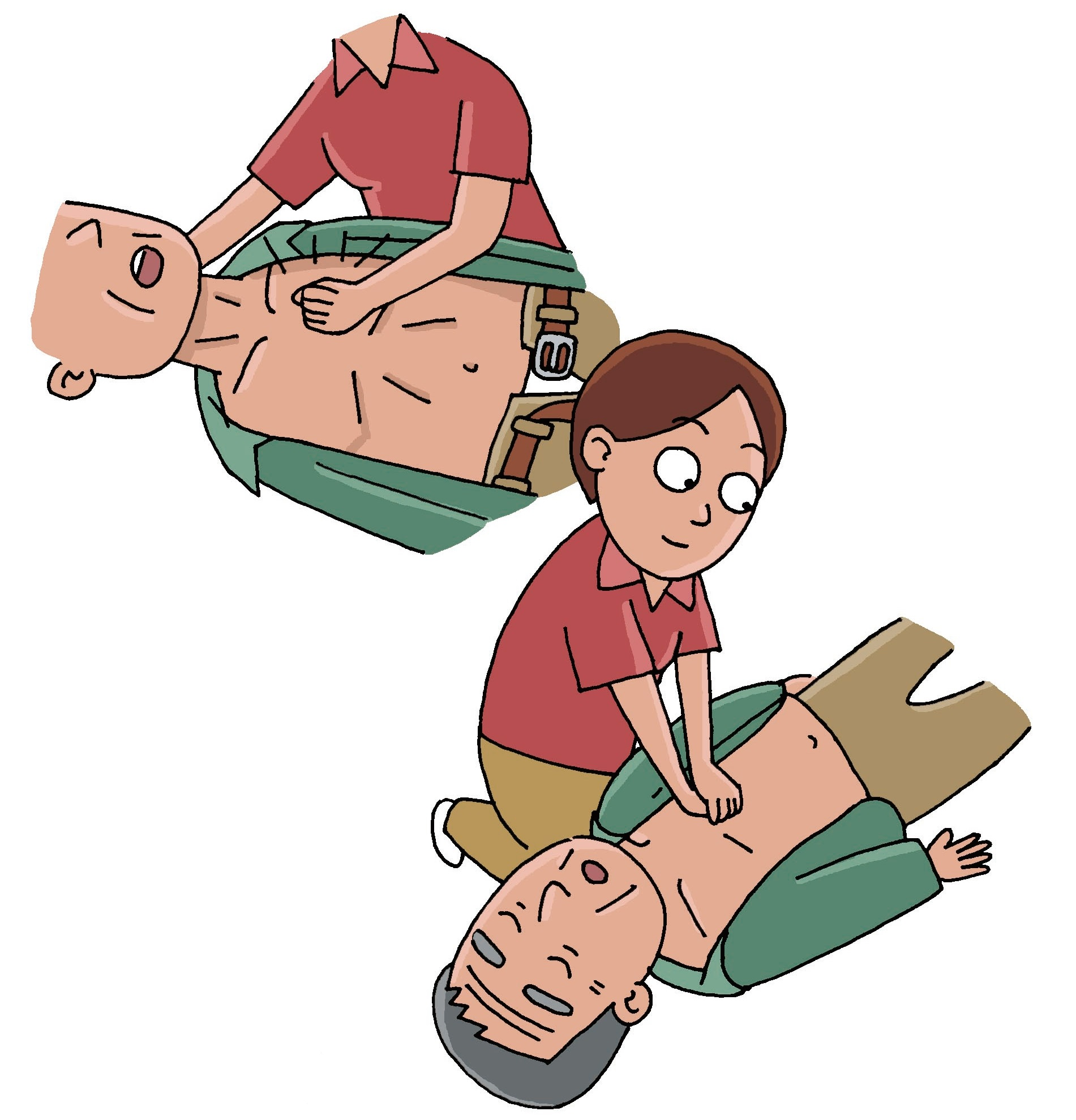 呼吸停止   指处于没有呼吸的状态   呼吸停止时的应对   确保呼吸道畅通   1、让患者仰卧,单手按住患者额头   2、用另一只手的中指和食指抬起患者下颌,同时将额头慢慢向下压    确认有无呼吸   1、胸部是否上下在动?   2、能否听到呼吸声?   3、能否感觉到气息?    如果没有呼吸的话用手帕或纱布覆盖患者口腔,用专用吹口等防止感染的工具进行人工呼吸。捏住患者的鼻子,口对口吹气至胸部抬起。一次不成功,就重复第二次。   实施没有反应的话,应实行心脏按压术。    抢救流程